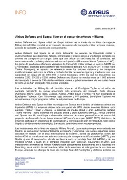 Airbus Defence and Space: líder en el sector de