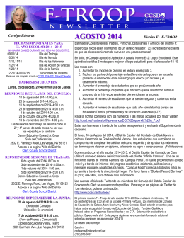 AGOSTO 2014 - Clark County School District
