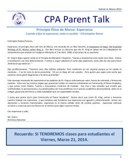 CPA Parent Talk - Community of Peace Academy