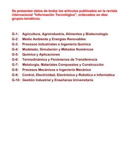 G-1: Agricultura, Agroindustria, Alimentos y Biotecnología