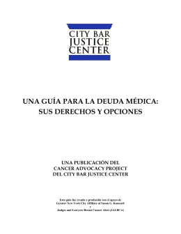 UNA GUÍA PARA LA DEUDA MÉDICA - New York City Bar Association