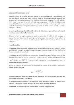 M ATÓMICO DE BOHR al MCUANTICO