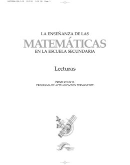 EN LA ESCUELA SECUNDARIA - Departamento de Matemáticas
