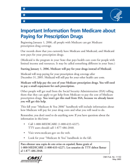 MEDICARE PART D - PRESCRIPTION DRUG COVERAGE (INFO