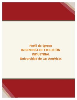 Perfil de Egreso INGENIERÍA DE EJECUCIÓN INDUSTRIAL