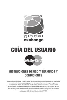 guía del usuario - GLOBAL CARD La Tarjeta Prepago de MasterCard