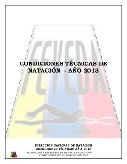 condiciones tecnicas natacion 2013
