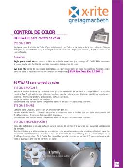 CONTROL DE COLOR