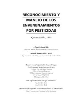 reconocimiento y manejo de los envenenamientos por