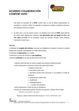 acuerdo colaboración confort auto - Colegio Oficial de Periodistas