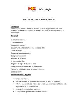 Protocolo de Sondaje Vesical