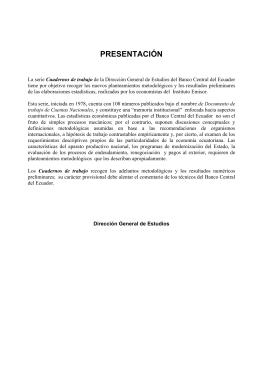 3 PRESENTACIÓN - Banco Central del Ecuador