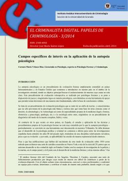 Campos específicos de interés en la aplicación de la autopsia
