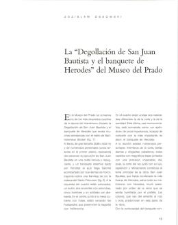 """La """"Degollación de San Juan Bautista y el banquete de Herodes"""