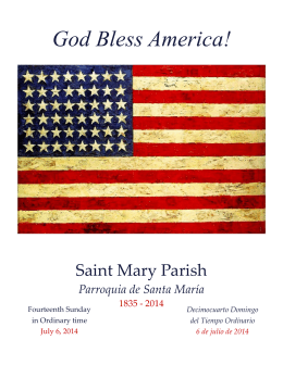 God Bless America! - Saint Mary Parish