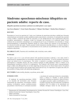Síndrome opsoclonus-mioclonus idiopático en paciente adulto