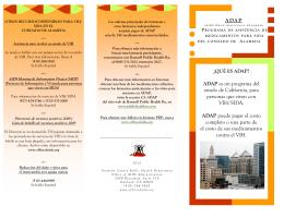 ADAP Brochure (Spanish) 2012