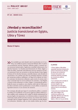 Justicia transicional en Egipto, Libia y Túnez