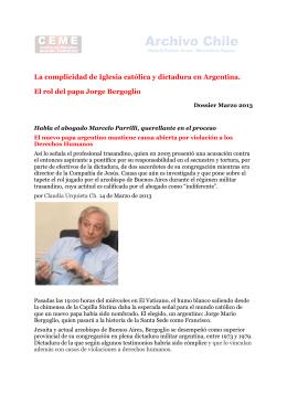 La complicidad de Iglesia católica y dictadura en Argentina. El rol