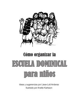 ESCUELA DOMINICAL para niños