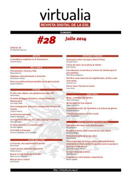 28 - Virtualia - Escuela de la Orientación Lacaniana