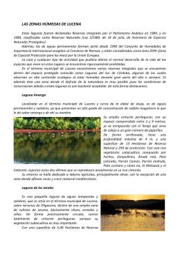 Humedales, Sierra de Aras y Río Anzur Lucena
