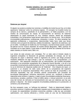 TEORÍA GENERAL DE LOS SISTEMAS LUDWIG VON