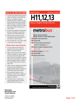 H11,12,13 - Washington Metropolitan Area Transit Authority