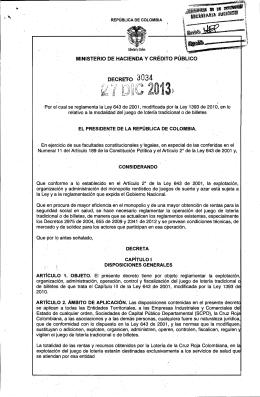J - Ministerio de Hacienda y Crédito Público