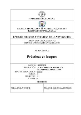 Prog Lic Practicas en Buques - Dr. Enrique Melón Rodriguez