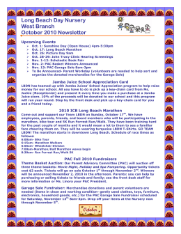 Long Beach Day Nursery West Branch October 2010 Newsletter