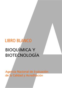 Libro Blanco de Bioquímica y Biotecnología