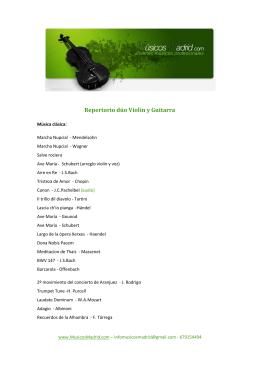 Repertorio Violin y Guitarra