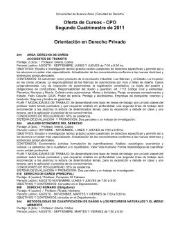 CPO Segundo Cuatrimestre de 2011 Orientación en Derecho Privado