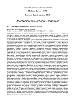 Orientación en Derecho Económico