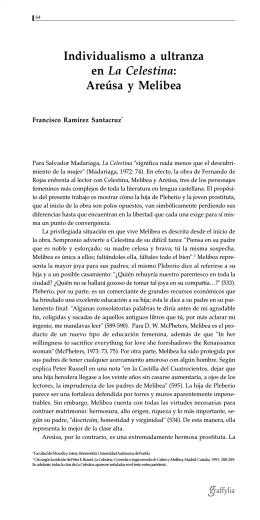 Individualismo a ultranza en La Celestina: Areúsa y Melibea