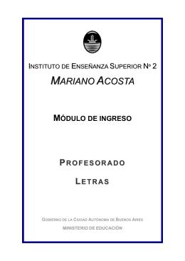Ingreso Letras - IES 2