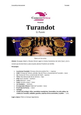 Turandot - Concerlírica