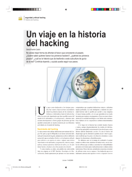 Un viaje en la historia del hacking - IT-DOCS
