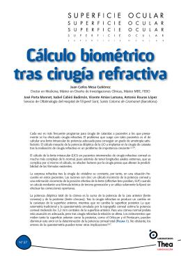 Cálculo biométrico tras cirugía refractiva