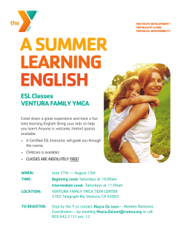 A SUMMER LEARNING ENGLISH