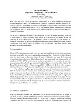 seguridad energética y cambio climático Jean Lamy