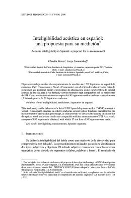 Inteligibilidad acústica en español
