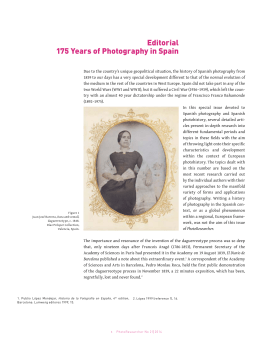 Editorial 175 Years of Photography in Spain