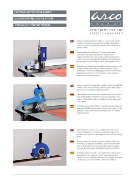 schneidesystemen für stoffe sistemas de cortar tejidos cutting