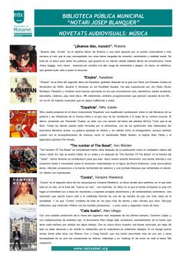 """""""notari josep blanquer"""" novetats audiovisuals: música"""