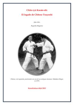 Chito ryû Karate-dô: El legado de Chitose Tsuyoshi