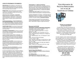 Guía Informativa de Recursos Relacionados con el uso de