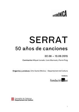 Dossier de Prensa SERRAT 50 anys de