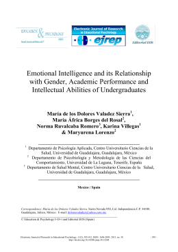 Emotional Intelligence and its Relationship with Gender, Academic